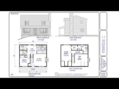 1145 Square Foot – Mountain Cabin House Plans