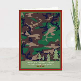 Military Christmas Card - You may be far away ...