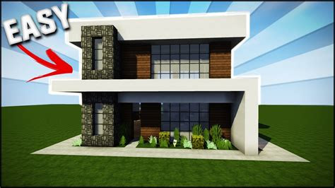 minecraft house tutorial easysimple modern house