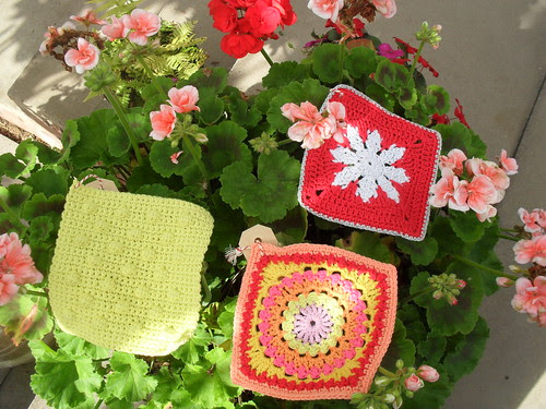 My Flowers seem to be improving second lease of life. Pretty Squares from Karin!......>