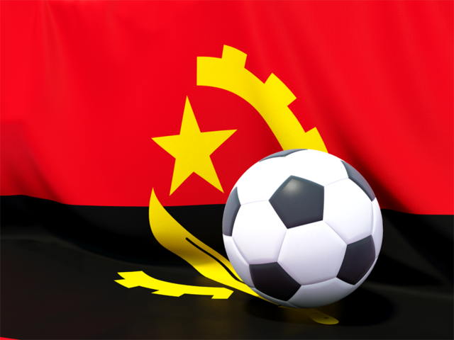 Flag With Football In Front Of It Illustration Of Flag Of Angola