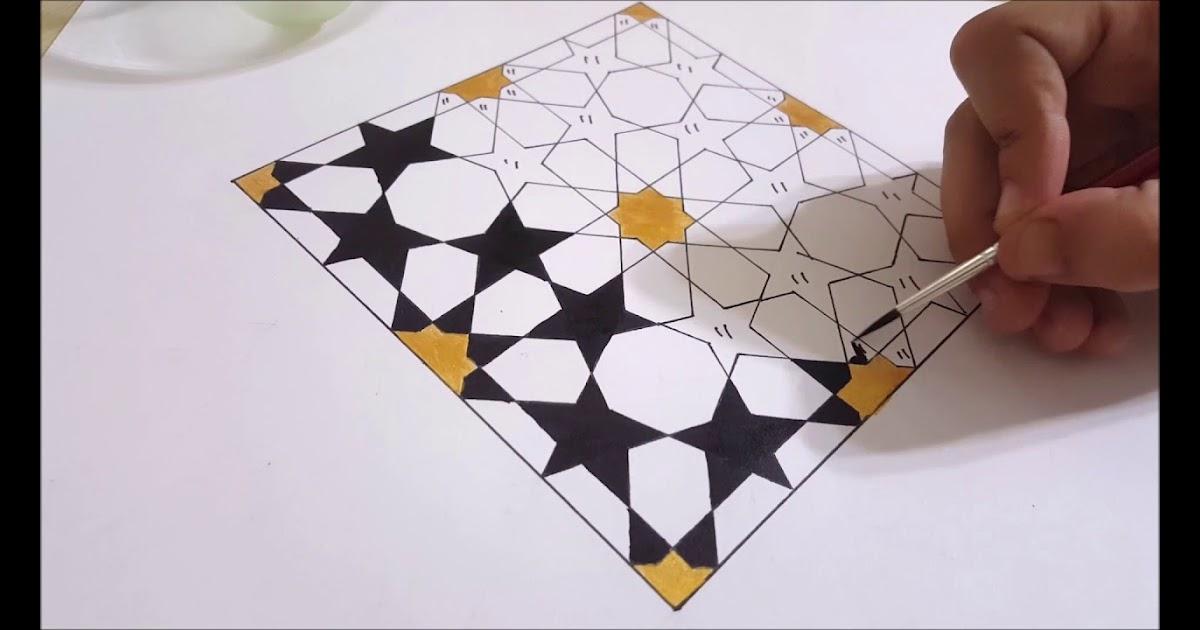 زخرفة هندسية سهلة Al Ilmu 12