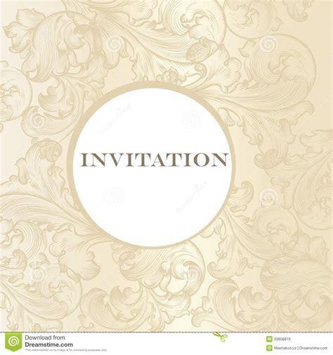 Elegant Wedding Invitation Card For Design Stock Photo