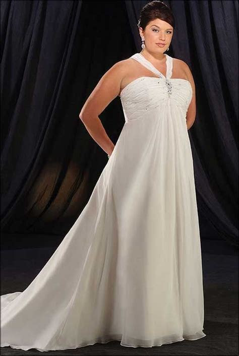 simple plus size wedding dresses for second wedding   Plus