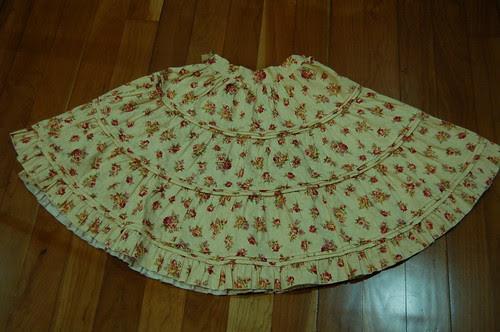 Lolita Closet Count! Skirts: Cream-Yellow - Bodyline Floral Beige Skirt