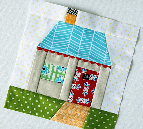 paper pieced house