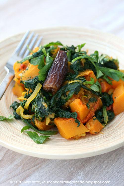 Zucca, spinaci e datteri