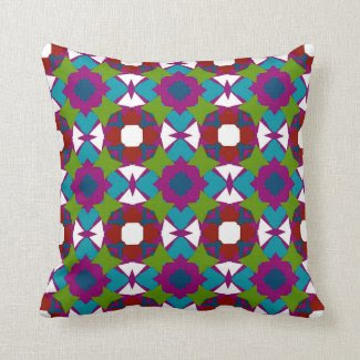 Throw Pillow with Bold Design and Colors