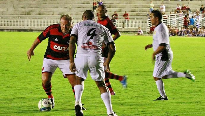 zico x viola almeidão (Foto: Herbert Clemente / Jornal da Paraíba)