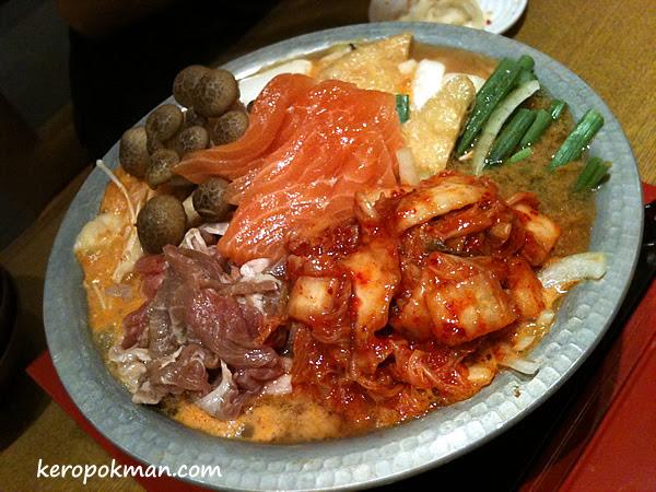 Salmon and Pork Kimchi Nabe