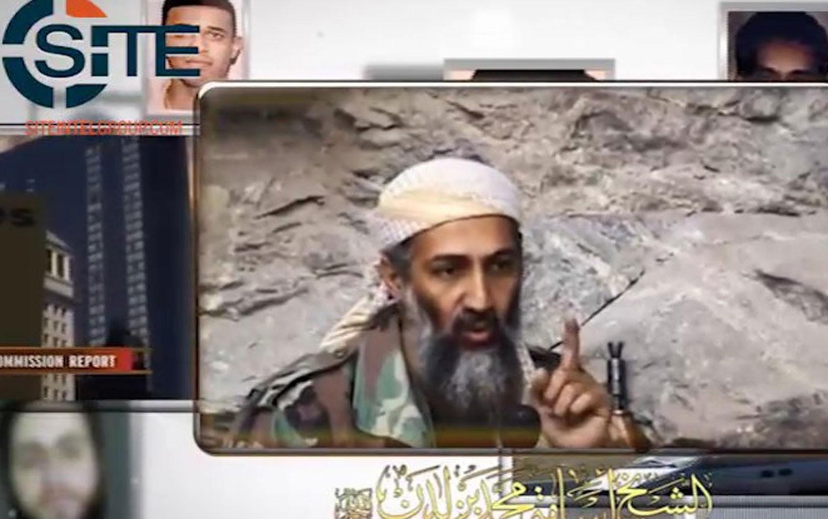 Imagem de Osama Bin Laden em vídeo sobre o 11 de Setembro divulgado na sexta (9) pela Al-Qaeda (Foto: Reprodução/Twitter/SITE)