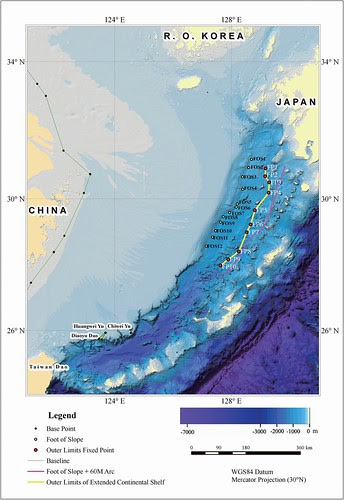 China outer limites of the continental shefl 2