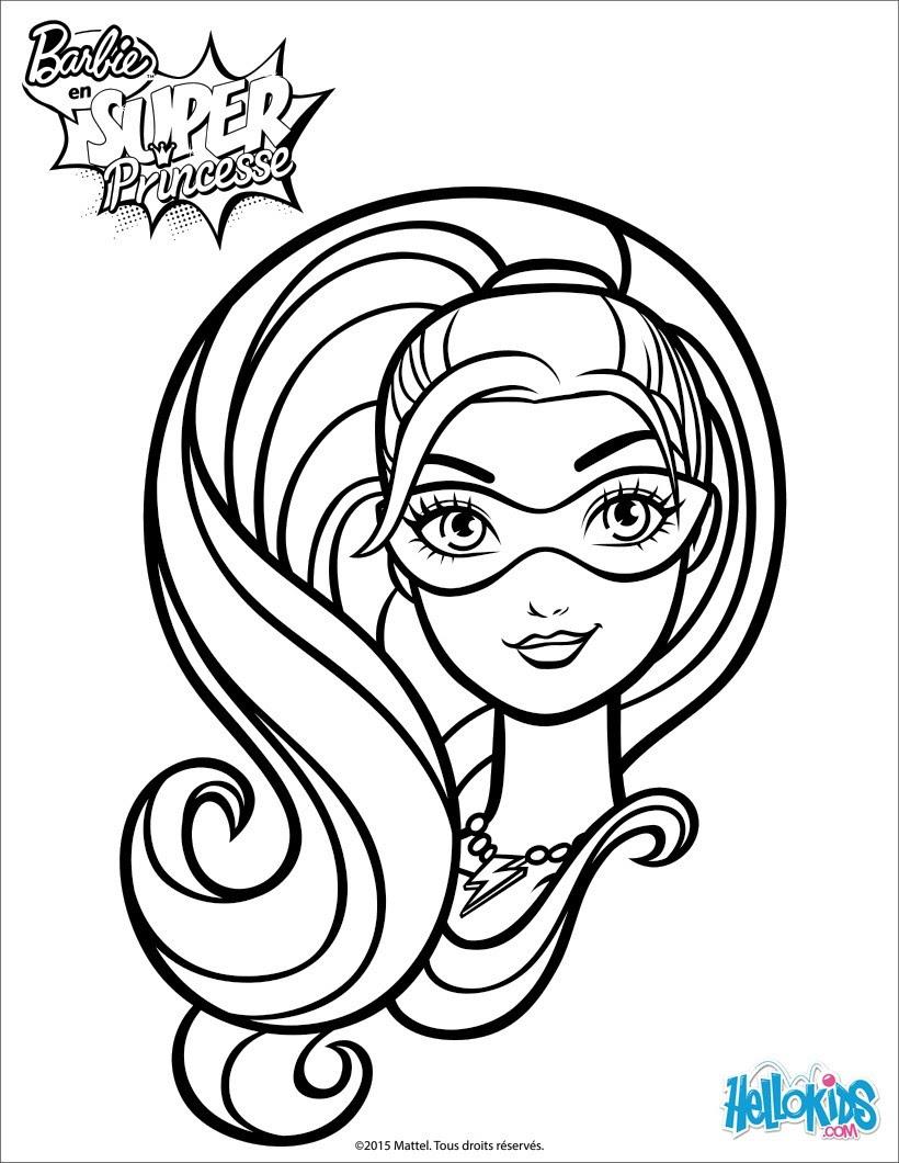 Fresco Desenho Da Barbie Super Princesa Para Colorir Melhores