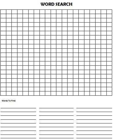 Printable Word Searches Create Your Own