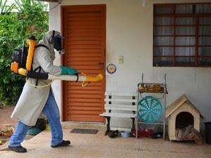 Nebulização faz parte das ações de combate à dengue  (Foto: Divulgação/ Prefeitura de Marília)