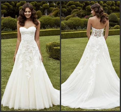 Discount Simply A Line Wedding Dresses Strapless