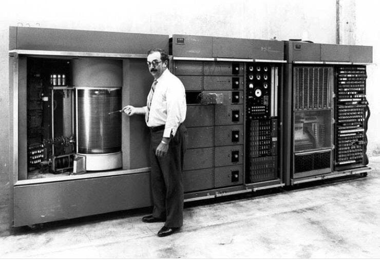 First commercial computer with a moving-head hard disk drive (1956)