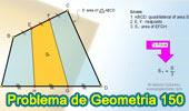 Problema de Geometría 150. Cuadrilátero, Área, Trisección del lado.