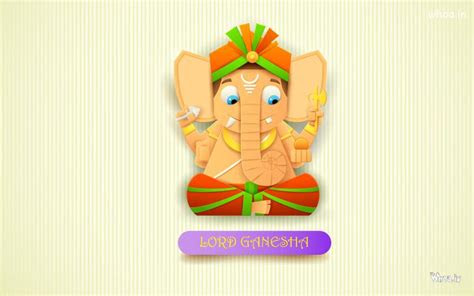 lord ganesha cartoon hd wallpaper