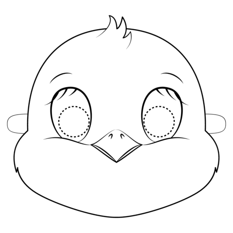 45 Top Bird Mask Coloring Pages  Images