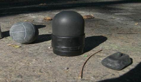 Projectiles de Flashball, de LBD 40 et plot de grenade de désencerclement à Sivens.