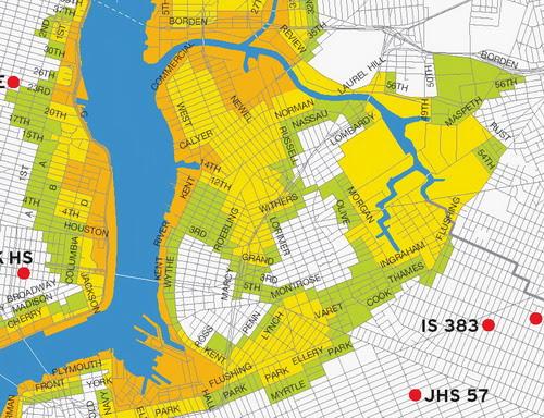North Brooklyn Hurricane Flooding Map