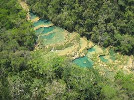 The natural pools of Semuc Champey, Guatemala