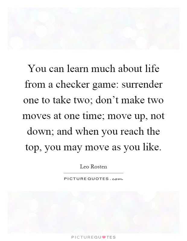 Checker Quotes  Checker Sayings  Checker Picture Quotes