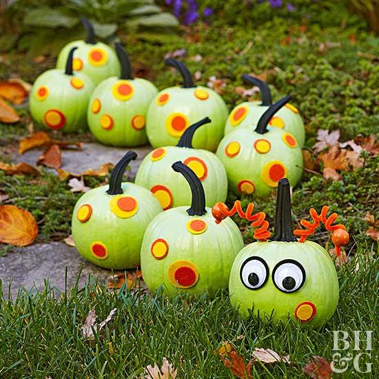 Creepy-Crawly Caterpillar Pumpkins