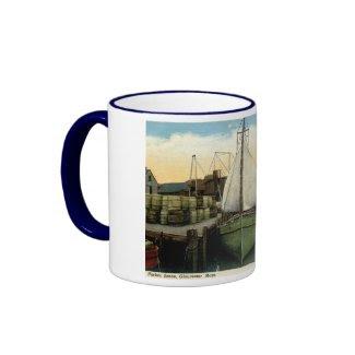 Harbor Scene, Gloucester, MA Vintage Ringer Coffee Mug