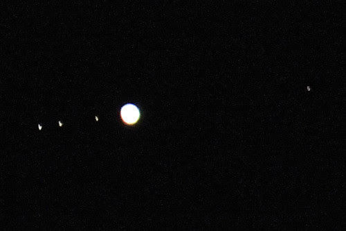 Jupiter and four moons