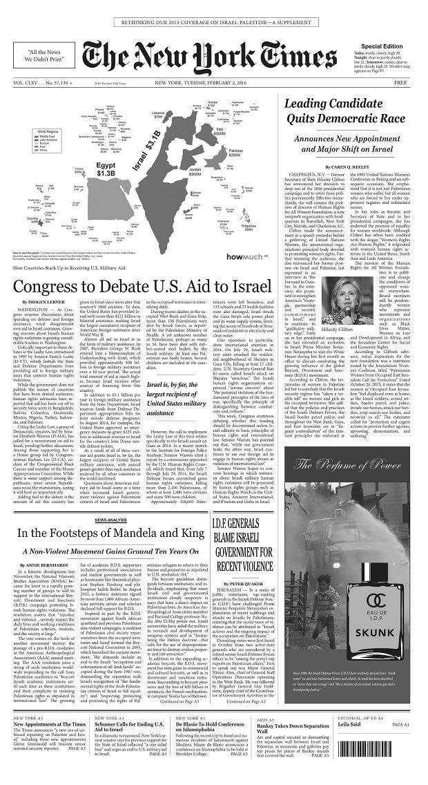 NYT ripensare israelo-palestinese piccolo