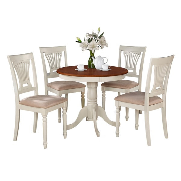 5-Piece Kitchen Table Set And 4 Chairs For Dining Room ...