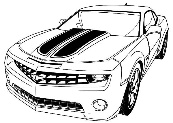 Desenho de Ve�culo Camaro para colorir  Tudodesenhos
