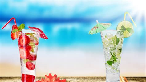 full hd wallpaper cocktail mojito lime ice mint raspberry