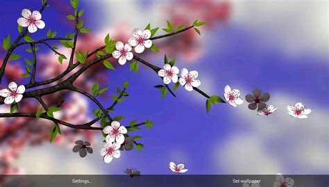Download HD Spring Flowers 3D Parallax Live Wallpaper Free