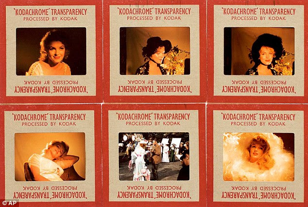 This group of six original color transparency slides shows Monroe on the set of 'The Prince and the Showgirl'
