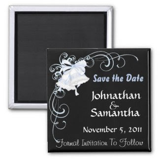 Wedding Bells Save the Date magnet