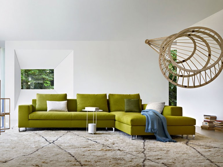 Green sofa | Interior Design Ideas.