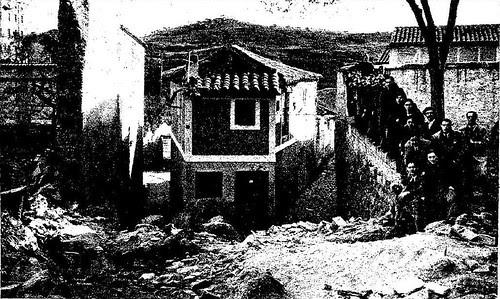 Hundimiento en el corredorcillo de San Bartolomé el 24-2-1936. Foto Rodríguez