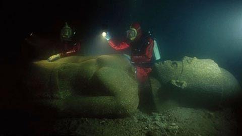 Ai Cập, thành phố, dưới biển, huyền thoại, phát hiện