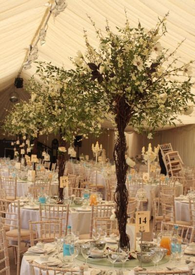 Flower Tree Centrepieces By Essential Wedding Hire at