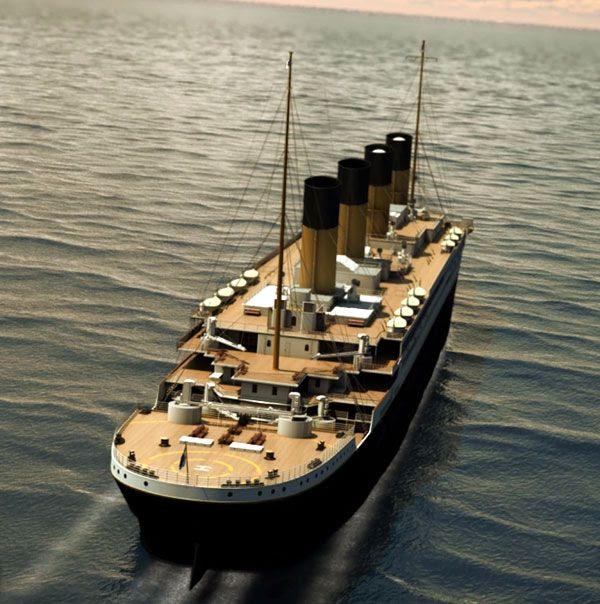An artist's concept depicting Titanic II sailing across the ocean.