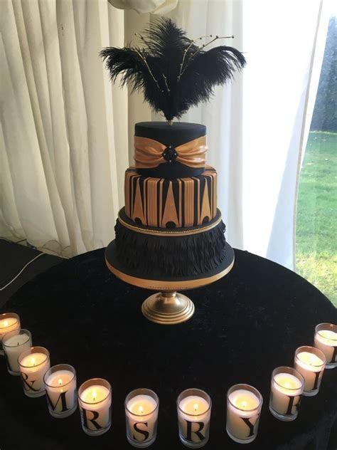 Great Gatsby Wedding Cake   Mel's Amazing Cakes