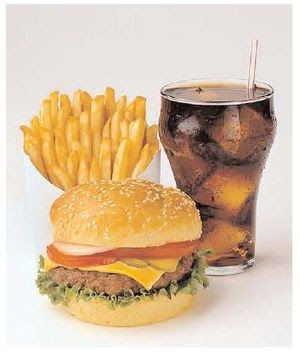 Energy-dense foods, such as fast food (picture...