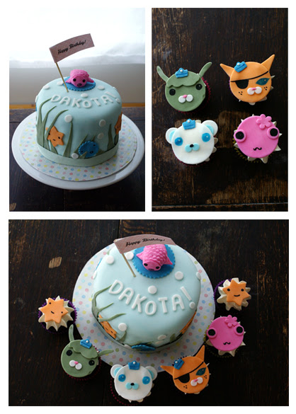 OCTONAUTS themed cake and cupcakes!
