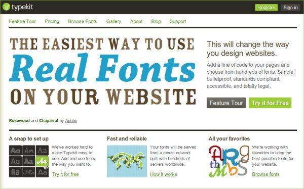 Typekit - Herramienta web para trabjar con tipografias