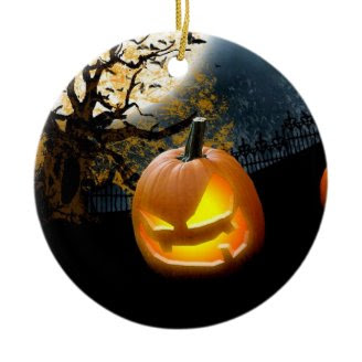 Halloween Pumpkin Christmas Tree Ornament
