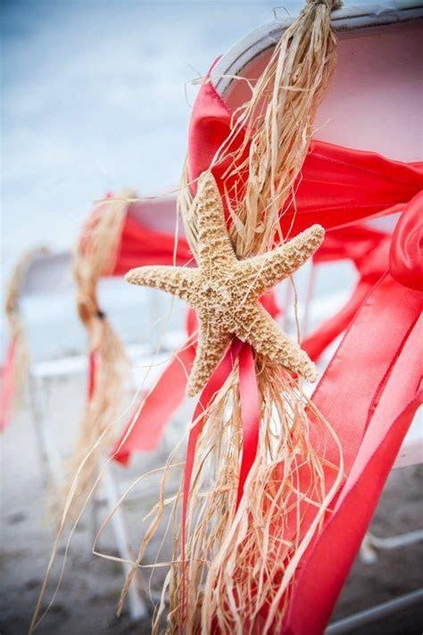 DIY Guava Starfish Raffia Aisle Decor   Guava Beach