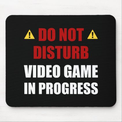 Do Not Disturb Video Game Mouse Pad